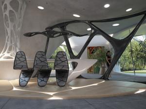 Интерьер в стиле бионического хай-тека