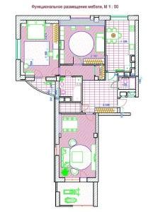 план размещения мебели