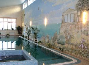 роспись в бассейне, коттедж с.Козин