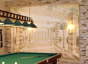 роспись в бильярдной, коттедж с.Козин