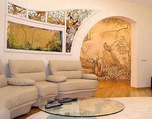 роспись в гостиной, г.Киев, ул. Драгомирова