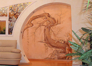 роспись в гостиной., г.Киев, ул. Драгомирова
