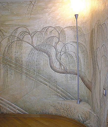 роспись в коридоре, г.Киев, ул. Щорса