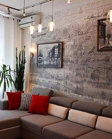 Шикарный дизайн гостиной 17 кв м