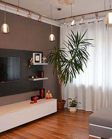 Оригинальный интерьер гостиной в современном стиле