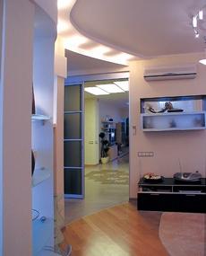 Дизайн гостиной 20 метров - выделение функциональных зон