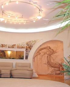 Дизайн проект гостиной в элитной квартире