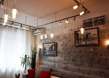 Освещение гостиной с выделением функциональных зон